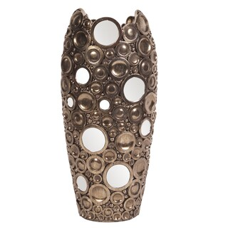 Bronze with Mirrored Accents Vase