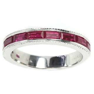 Sonia Bitton 14k White Gold Pink Sapphire Ring