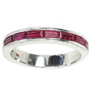 Sonia Bitton 14k White Gold Pink Sapphire Ring