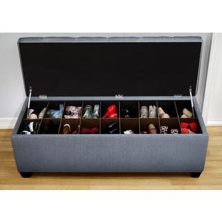 The Sole Candice Bay Blue Secret Shoe Storage Bench