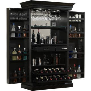 Ashley Heights Black Stain Home Bar Wine Cabinet|https://ak1.ostkcdn.com/images/products/9144232/P16325081.jpg?impolicy=medium
