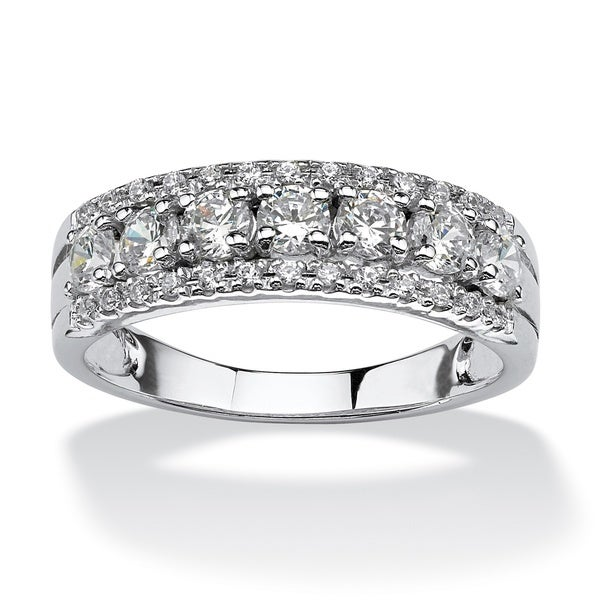 .83 TCW Round Cubic Zirconia Ring in 10k Gold Classic CZ