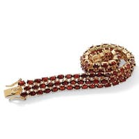 25Ct Tw Garnet Triple-Row Tennis Bracelet
