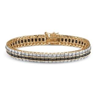 18k Yellow Goldplated 13 3/4ct TGW Sapphire Bracelet