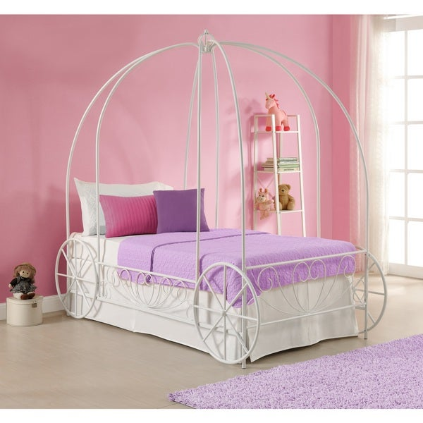 Shop Dhp Princess Carriage Twin Metal Bed Free Shipping