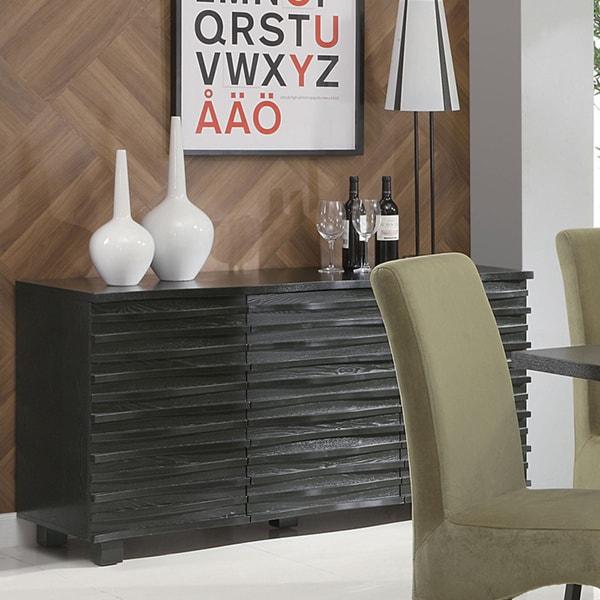 Genial Coaster Company Stanton Black Contemporary Server