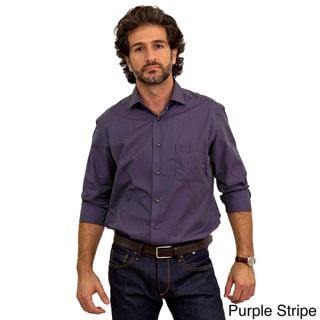 Luigi Baldo Men's Long Sleeve Collared Sport Shirt (Gift Boxed)