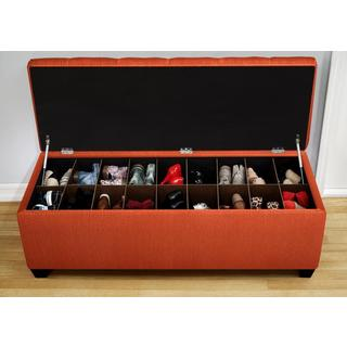The Sole Candice Pumpkin Secret Shoe Storage Bench