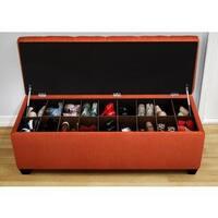 The Sole Candice Pumpkin Secret Shoe Storage Bench