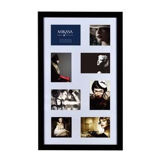 mikasa 8 opening black shawdow box collage - Mikasa Picture Frames