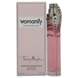 Thierry Mugler Womanity Eau Pour Elles Women's 2.7-ounce Eau de Toilette Spray (Refillable)