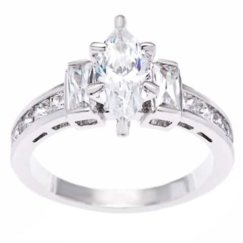 1.79ct Marquise Cut CZ Engagement/Bridal Ring by Simon Frank Designs