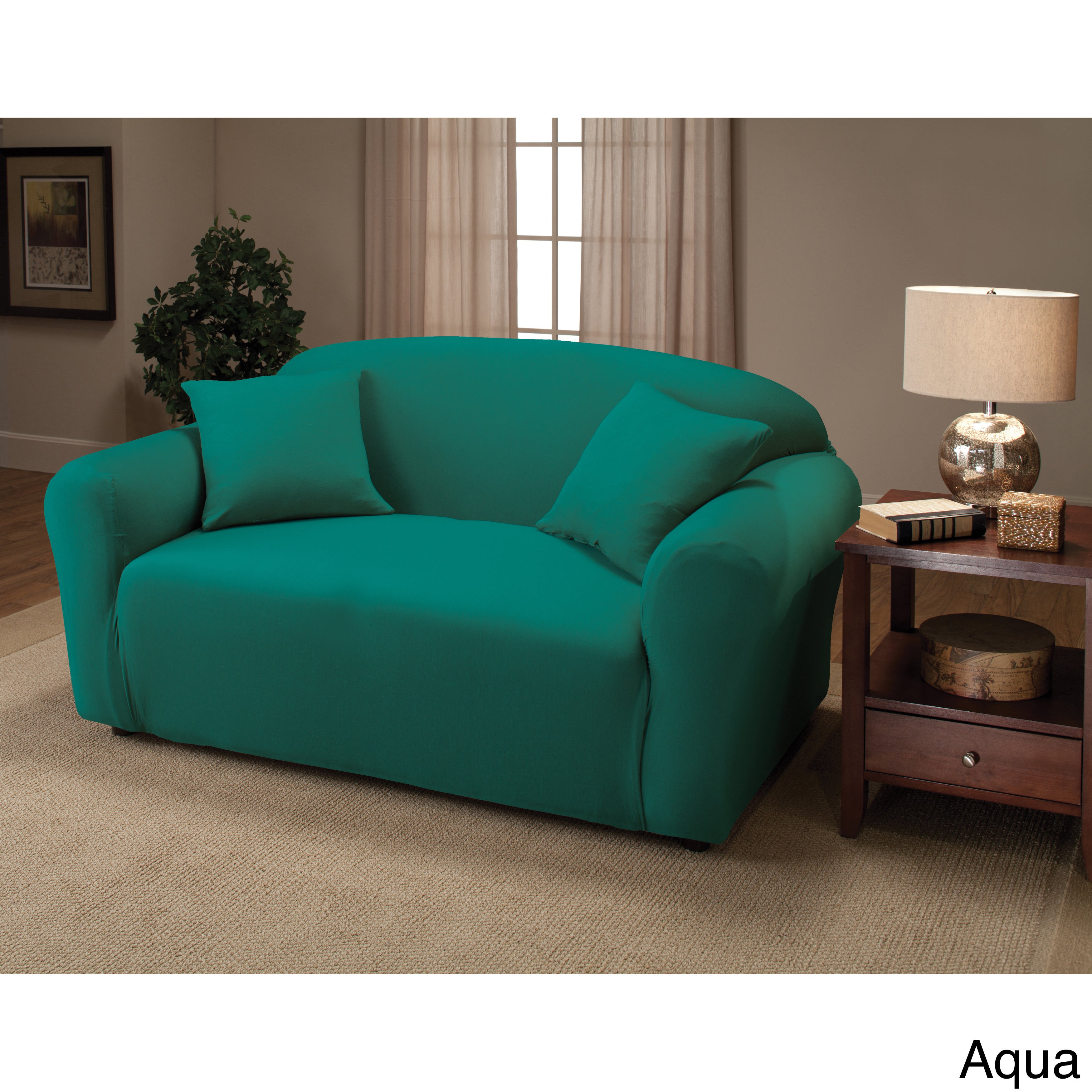 Jersey Stretch Furniture Cover Slipcover Forest Green Recliner Chair