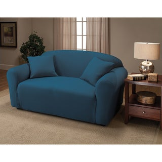 Link to Sanctuary Stretch Jersey Loveseat Slipcover Similar Items in Slipcovers & Furniture Covers