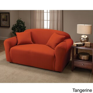 Sanctuary Stretch Jersey Loveseat Slipcover (Option: Tangerine)
