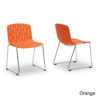 Ximena Plastic Modern Dining Chair (Set of 2)