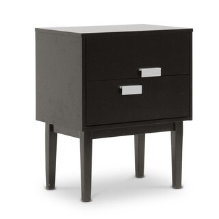 Baxton Studio Redgrave Dark Brown Modern Nightstand or End Table