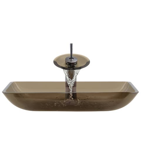 The Polaris Sinks P046 Taupe Oil Rubbed Bronze Bathroom Ensemble
