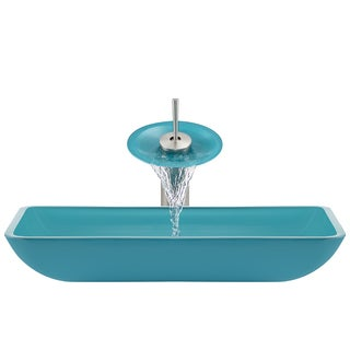 The Polaris Sinks P046 Turquoise Brushed Nickel Bathroom Ensemble
