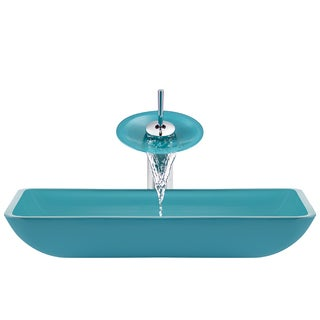 The Polaris Sinks P046 Turquoise Chrome Bathroom Ensemble