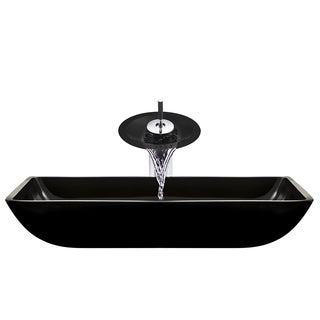 The Polaris Sinks P046 Black Chrome Bathroom Ensemble