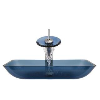 The Polaris Sinks P046 Aqua Brushed Nickel Bathroom Ensemble
