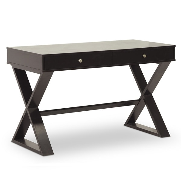 Baxton Studio Ottwell Dark Brown Modern Desk