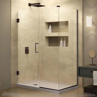 DreamLine Unidoor Plus 52 in. W x 30.375-34.375 in. D x 72 in. H Hinged Shower Enclosure
