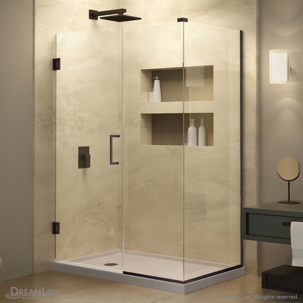 Shop For Dreamline Unidoor Plus 48 In W X 30 3 8 In D X 72 In H Frameless Hinged Shower Enclosure 30 38 X 48 30 38 X 48 Get Free Delivery On Everything At Overstock Your Online Home Improvement Shop Get 5 In Rewards With Club O