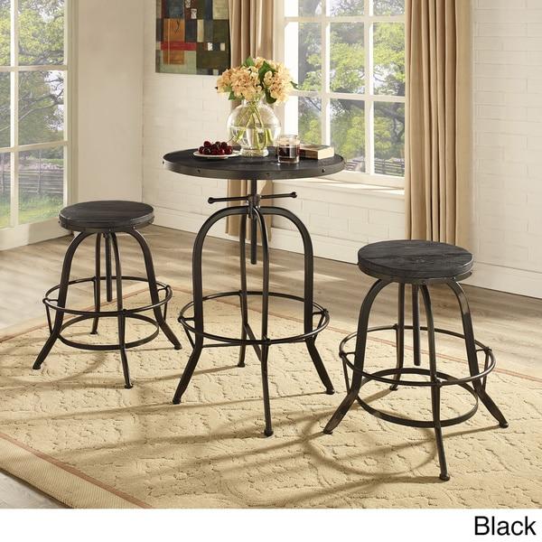 Sylvan Industrial Style Wood Bar Table