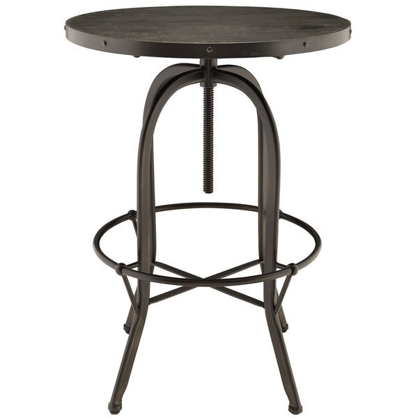 Sylvan Industrial Style Wood Bar Table   Free Shipping Today    Overstock.com   16325440
