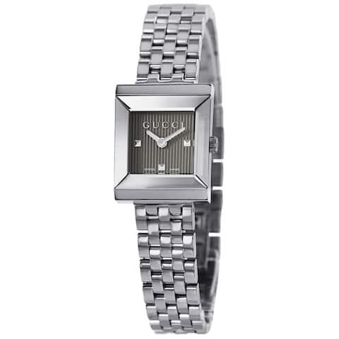 Gucci Women's YA128403 G Frame Timeless Modern Square Shape Watch