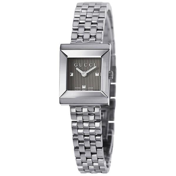 0f55e8c5209 Gucci Women  x27 s YA128403 G Frame Timeless Modern Square Shape Watch