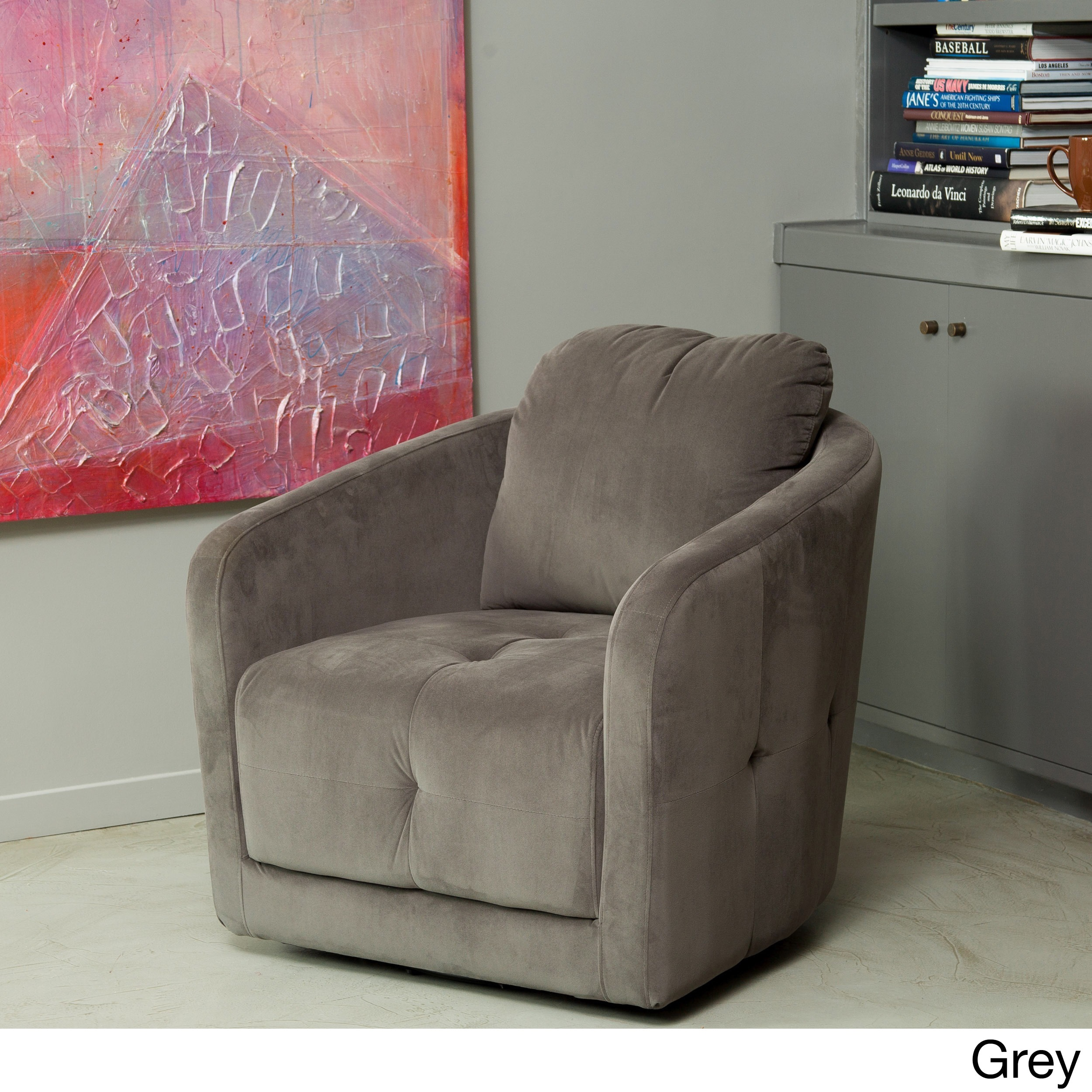 Christopher Knight Home Concordia Microfiber Fabric Swivel Chair