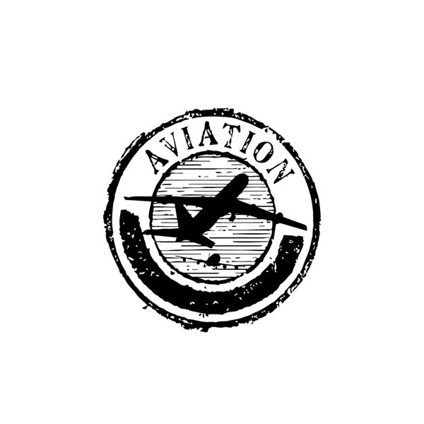 Aviation Plane Seal Vinyl Wall Art