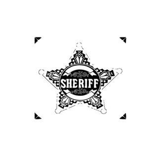 Sheriff Badge Star Vinyl Wall Art