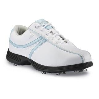 Callaway Savory White/ Light Blue Womens Golf Shoes