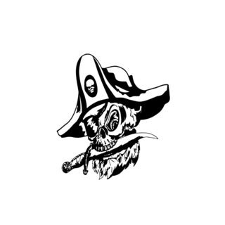 Pirate Captain Skull Knife Vinyl Wall Art