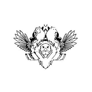 Lion Pride Coat of Arms Vinyl Wall Art