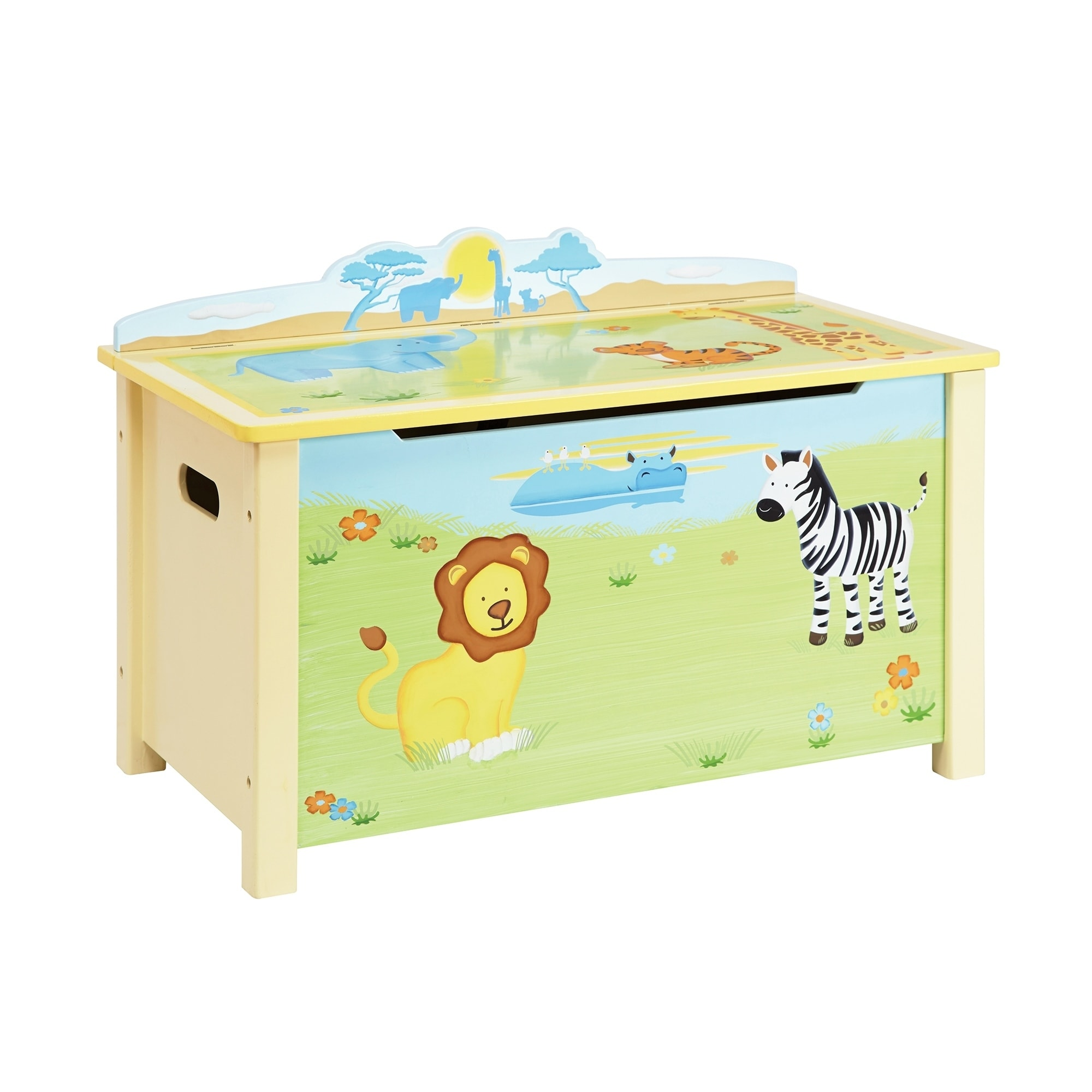 Guidecraft Savanna Smiles Toy Box, Natural