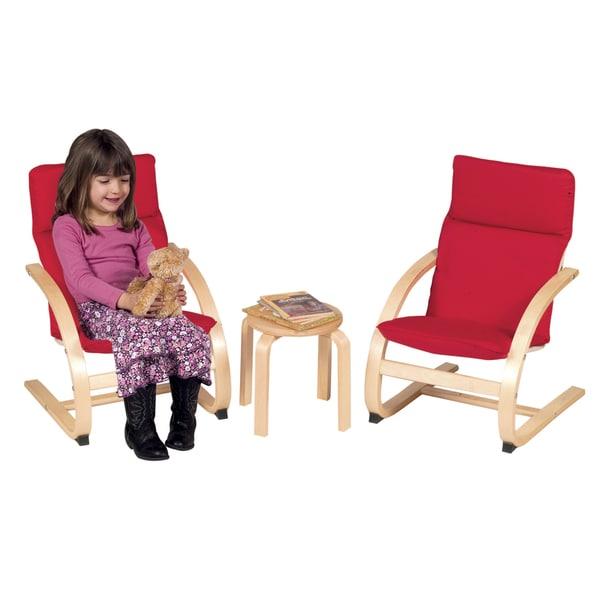 Kiddie Rocker Chair Set Red