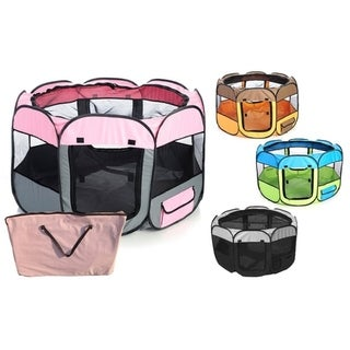 Link to Pet Life Collapsible Travel Pet Play Pen Similar Items in Dog Houses & Pens