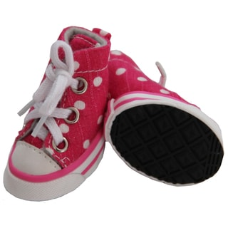Pet Life Pink Extreme Skater Canvas Pet Sneakers (Set of 4)