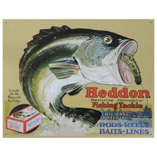 Vintage Metal Art 'Heddon Frogs' Decorative Tin Sign