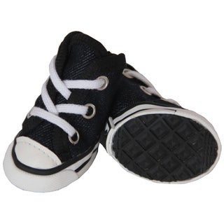 Pet Life Black Extreme Skater Canvas Pet Sneakers (Set of 4) (4 options available)