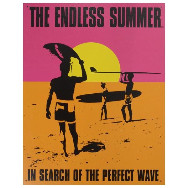 Vintage Metal Art 'Endless Summer' Decorative Tin Sign