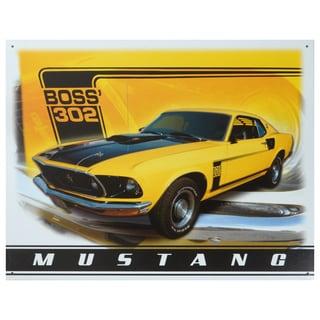 Vintage Metal Art 'Mustang' Decorative Tin Sign