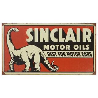 Vintage Metal Art 'Sinclair' Decorative Tin Sign