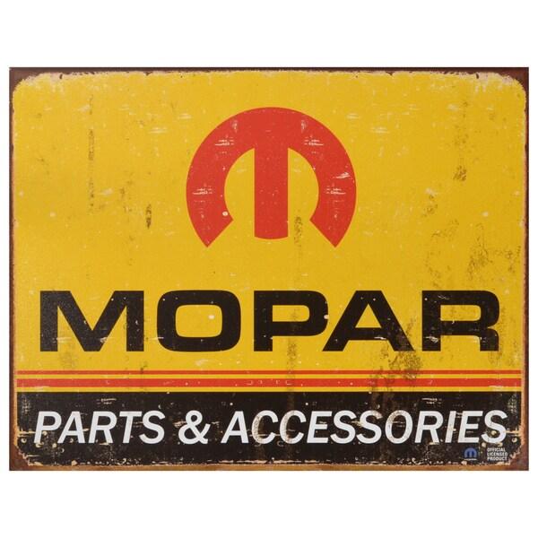 Vintage Metal Art 'Mopar' Decorative Tin Sign