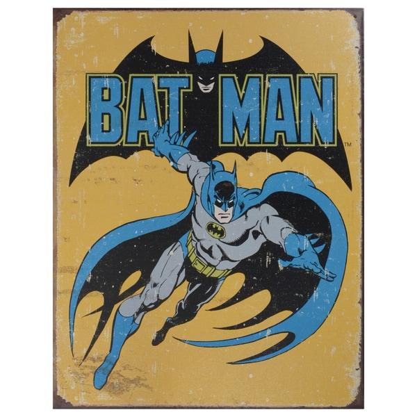Vintage Metal Art 'Batman' Decorative Retro Tin Sign